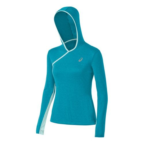 Womens ASICS PR Warm-Up Hooded Jackets - Bondi Heather S