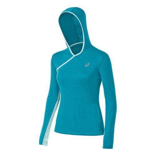 Womens ASICS PR Warm-Up Hooded Jackets - Bondi Heather XL