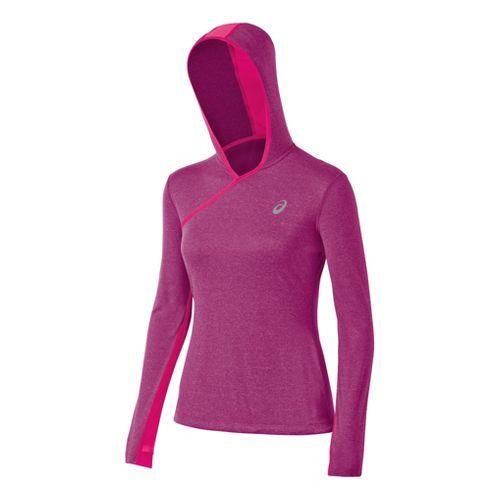 Womens ASICS PR Warm-Up Hooded Jackets - Wild Aster Heather L