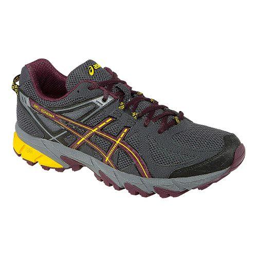 Mens ASICS GEL-Sonoma Trail Running Shoe - Black/Burgundy 8.5