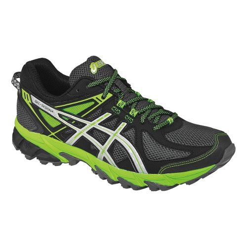 Mens ASICS GEL-Sonoma Trail Running Shoe - Graphite/Lime 7.5