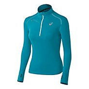 Womens ASICS Favorite Long Sleeve 1/2 Zip Technical Tops
