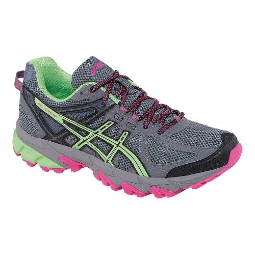 Womens ASICS GEL-Sonoma Trail Running Shoe - Charcoal/Mint 10.5