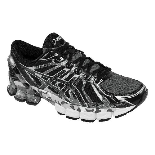 Mens ASICS GEL-Sendai 2 Running Shoe - Onyx/Black Lightning 13