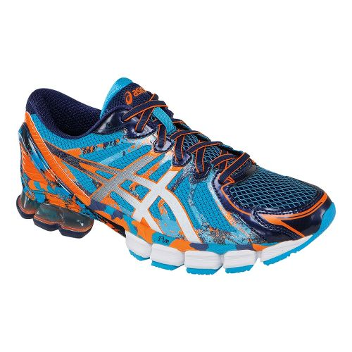 Mens ASICS GEL-Sendai 2 Running Shoe - Blue/Orange 14