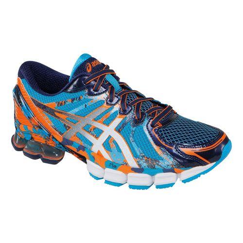 Mens ASICS GEL-Sendai 2 Running Shoe - Blue/Orange 8