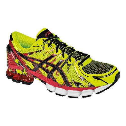 Mens ASICS GEL-Sendai 2 Running Shoe - Flash Yellow/Red 11.5