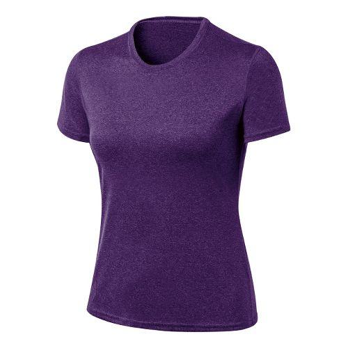 Womens ASICS Everyday Tech Tee Short Sleeve Technical Tops - Berry Heather M
