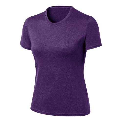 Womens ASICS Everyday Tech Tee Short Sleeve Technical Tops - Berry Heather XL