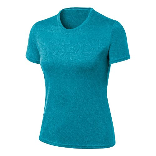 Womens ASICS Everyday Tech Tee Short Sleeve Technical Tops - Bondi Heather S