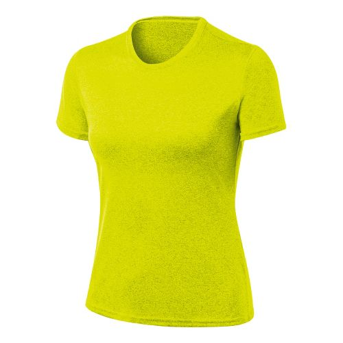 Womens ASICS Everyday Tech Tee Short Sleeve Technical Tops - Electric Lime XL