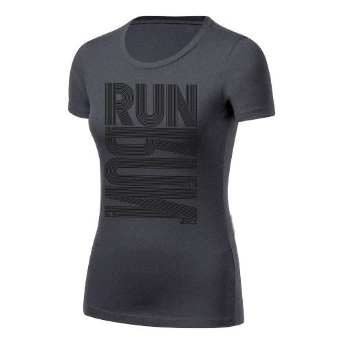 Womens ASICS Run Tech Tee Short Sleeve Technical Tops - Heather Grey L
