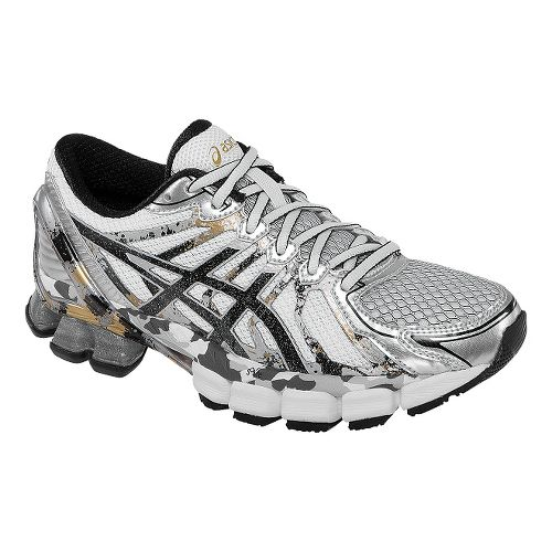 Womens ASICS GEL-Sendai 2 Running Shoe - White/Silver 9