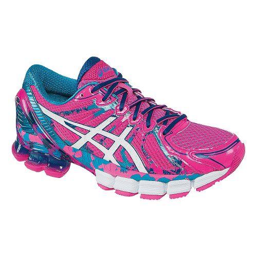 Womens ASICS GEL-Sendai 2 Running Shoe - Pink/Turquoise 11.5
