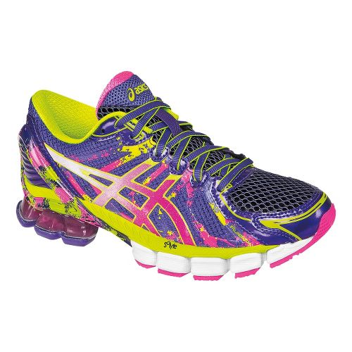 Womens ASICS GEL-Sendai 2 Running Shoe - Purple/Hot Pink 12