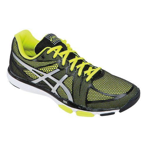 Mens ASICS GEL-Exert TR Cross Training Shoe - Black/Flash Yellow 12.5