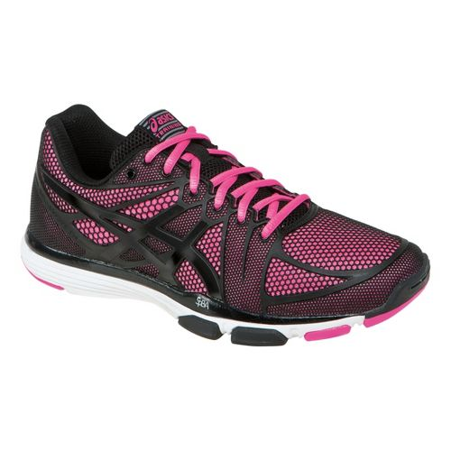 Womens ASICS GEL-Exert TR Cross Training Shoe - Black/Knockout Pink 5.5