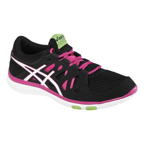 Womens ASICS GEL-Fit Tempo Cross Training Shoe - Black/Hot Pink 7.5