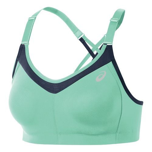 Womens ASICS Crossback Sports Bras - Aqua Mint/Cobalt M