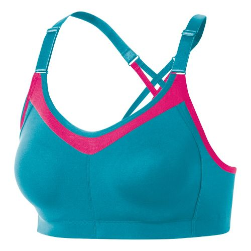 Womens ASICS Crossback Sports Bras - Bondi Blue XS