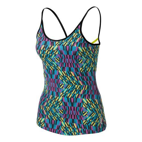 Womens ASICS Illusion Print Tank Sport Top Bras - Bondi Print XL