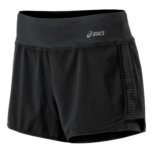 Womens ASICS Illusion 2-in-1 Shorts - Black XL