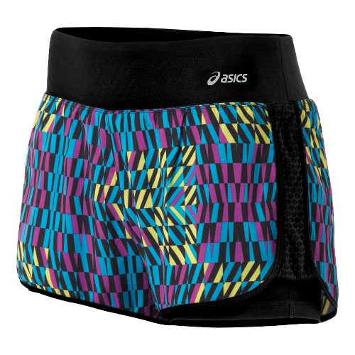 Womens ASICS Illusion 2-in-1 Shorts - Bondi Print L
