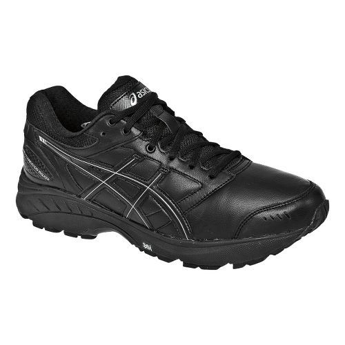 Mens ASICS GEL-Foundation Walker 3 Walking Shoe - Black/Silver 11.5