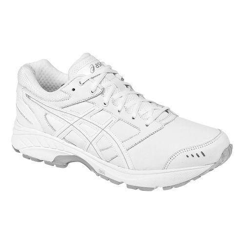 Mens ASICS GEL-Foundation Walker 3 Walking Shoe - White/Silver 11.5