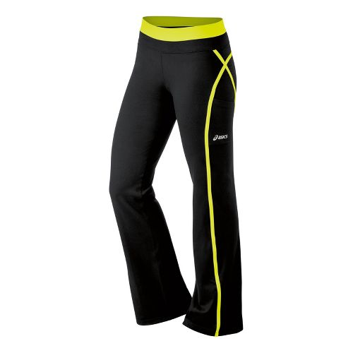 Womens ASICS Illusion Full Length Pants - Electric Lime XS