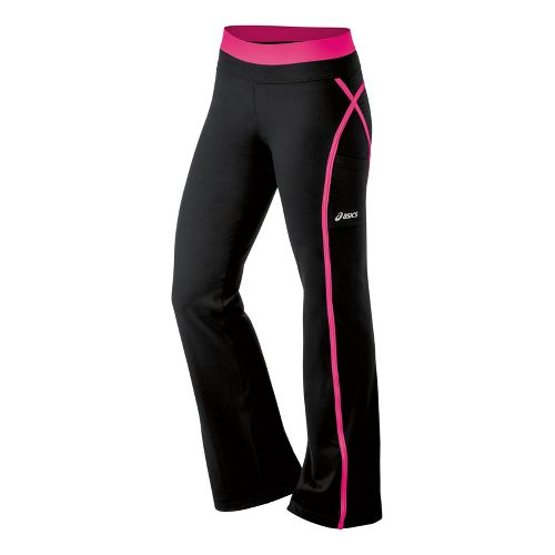 Womens ASICS Illusion Full Length Pants - Magenta XS