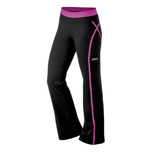 Womens ASICS Illusion Full Length Pants - Neon Purple XS