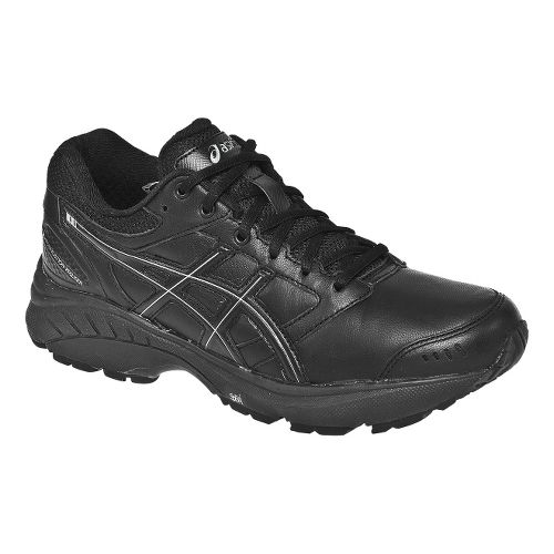 Womens ASICS GEL-Foundation Walker 3 Walking Shoe - Black/Silver 7.5