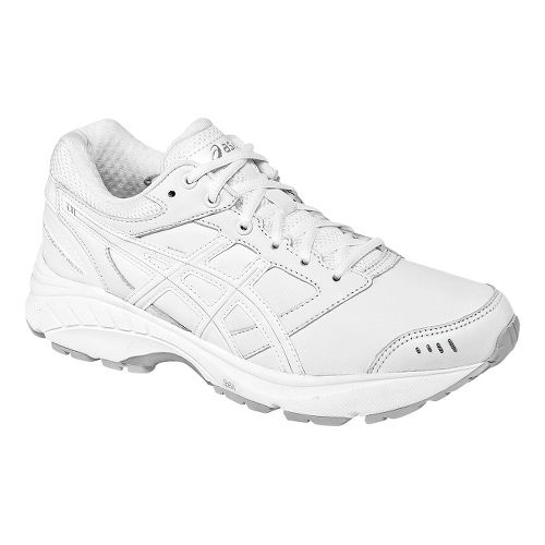 Womens ASICS GEL-Foundation Walker 3 Walking Shoe - White/Silver 10.5