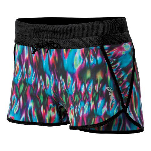 Womens ASICS Abby Splits Shorts - Blurred Lines Print XL
