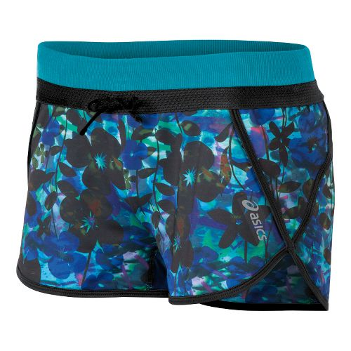 Womens ASICS Abby Splits Shorts - Bondi Watercolor Print XS