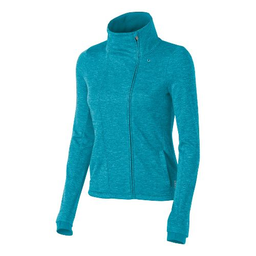 Womens ASICS Abby Layering Running Jackets - Bondi Blue XS