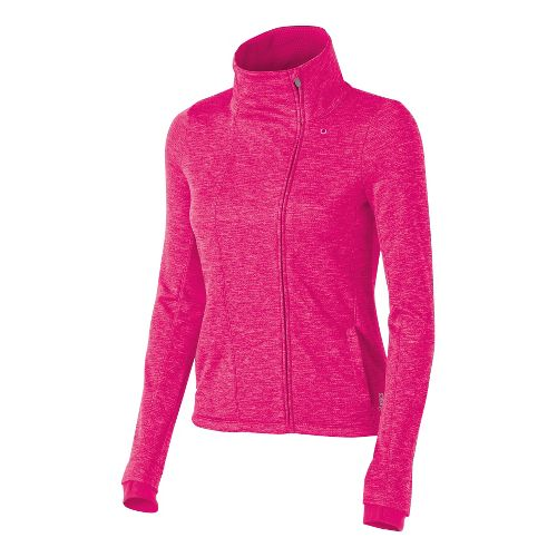 Womens ASICS Abby Layering Running Jackets - Magenta XL