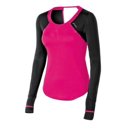 Womens ASICS Abby Tee Long Sleeve No Zip Technical Tops - Magenta L