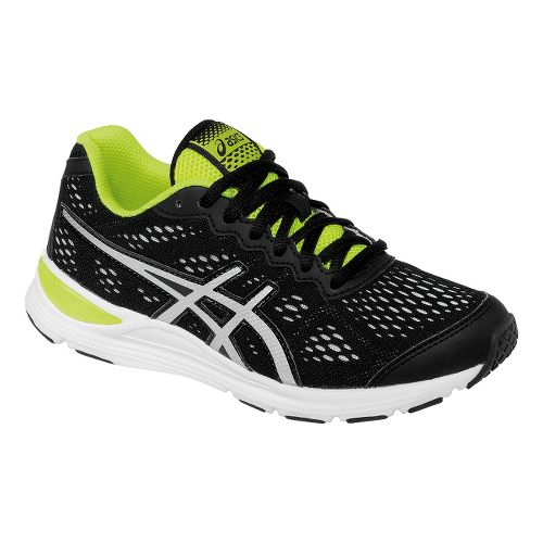 Kids ASICS GEL-Storm GS Running Shoe - Black/Flash Yellow 4.5