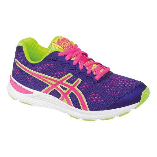 Kids ASICS GEL-Storm GS Running Shoe - Purple/Hot Pink 4