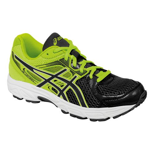 Kids ASICS GEL-Contend 2 GS Running Shoe - Black/Flash Yellow 1.5