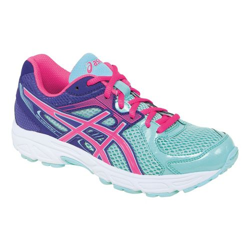Kids ASICS GEL-Contend 2 GS Running Shoe - Ice Blue/Hot Pink 3.5