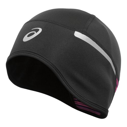 ASICS PR Shelter Beanie Headwear - Black/Berry Stripe