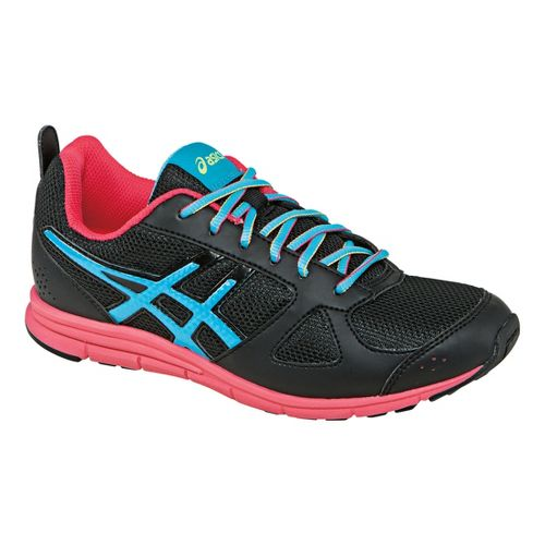 Kids ASICS Lil' Muse Fit Cross Training Shoe - Black/Turquoise 4