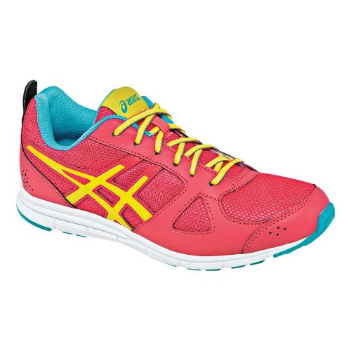 Kids ASICS Lil' Muse Fit Cross Training Shoe - Raspberry/Lemon 6.5