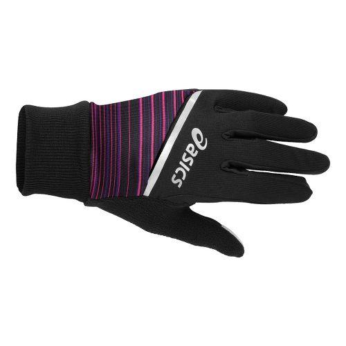 ASICS PR Shelter Gloves Handwear - Black/Berry Stripe S/M