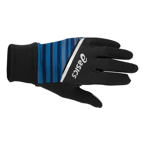 ASICS PR Shelter Gloves Handwear - Black/New Blue Stripe S/M