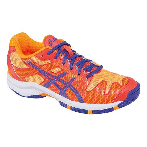Kids ASICS GEL-Solution Speed GS Court Shoe - Blue/Flash Orange 5