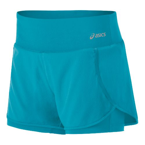 Womens ASICS Fit-Sana 2-in-1 Shorts - Bondi Blue L